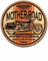 """Mother Road Motorcycle Repair\"" Tin Sign"