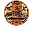 """Mother Road Motorcycle Repair"" Tin Sign"