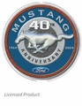 """Mustang 40th Anniversary 1964-2004\"" Tin Sign"