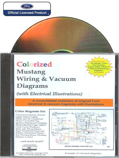 colorized mustang wiring vacuum diagrams on cd 1965 1973 rh themotorbookstore com 1973 ford 302 vacuum diagram 1973 ford 390 vacuum diagram
