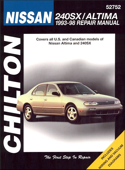 nissan 240sx nissan altima repair manual 1993 1998 chilton 52752 rh themotorbookstore com 2012 Nissan Altima Owner's Manual 2001 Nissan Altima Owner's Manual