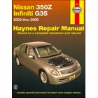 Nissan 350Z, Infiniti G35 Haynes Repair Manual 2003-2008