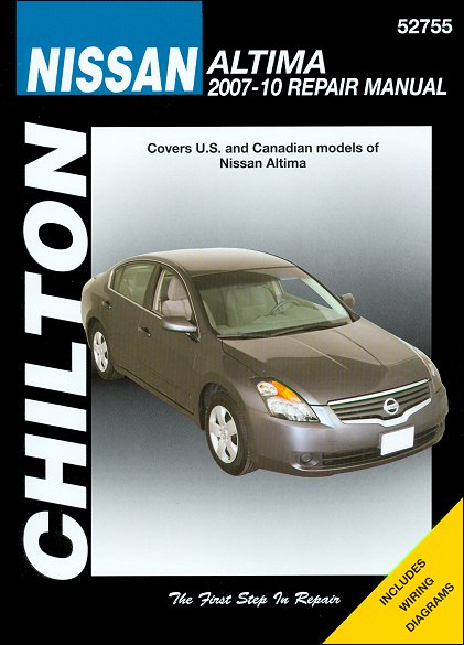 Nissan Altima Repair Service Manual 2007-2010 | Chilton 52755