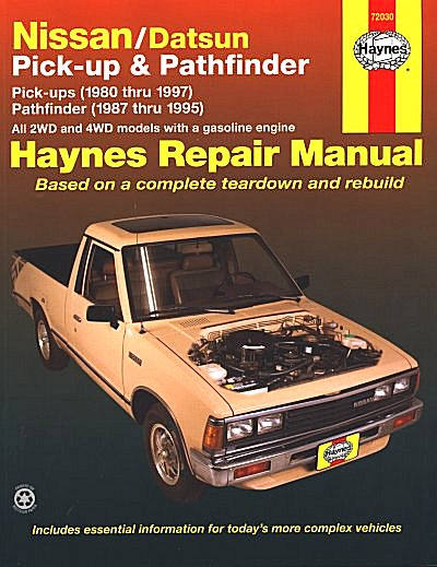 nissan datsun pickup nissan pathfinder repair manual 1980 1997 rh themotorbookstore com 95 nissan pickup repair manual 95 nissan pickup repair manual
