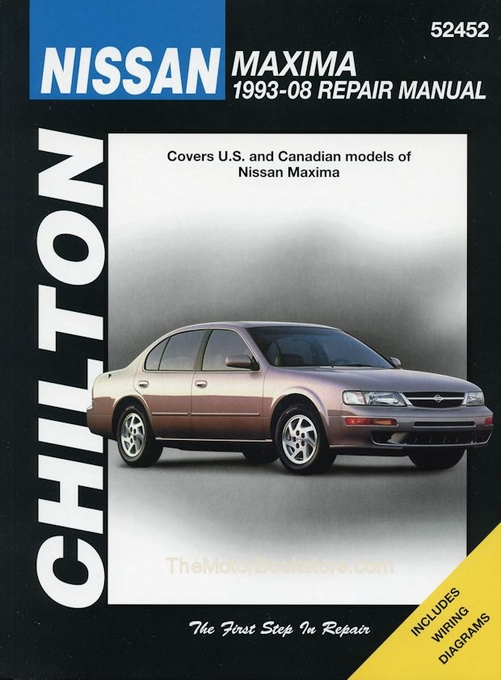 nissan maxima repair shop manual 1993 2008 chilton 52452 rh themotorbookstore com 2007 nissan maxima manual 2006 nissan maxima manual o cooler and o ring