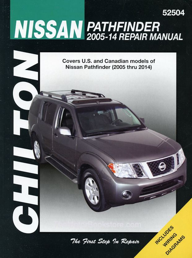 nissan pathfinder repair manual 2005 2014 chilton 52504 rh themotorbookstore com 2010 nissan pathfinder service manual pdf 1995 Nissan Pathfinder Manuals