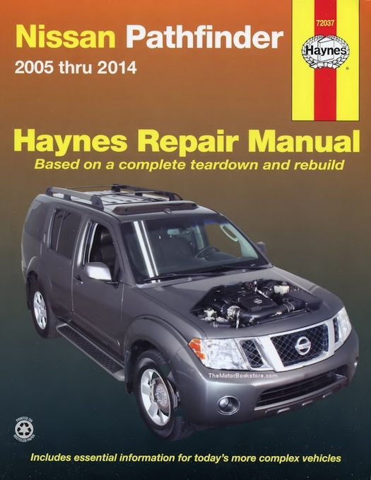 nissan pathfinder repair manual 2005 2014 haynes 72037 rh themotorbookstore com Nissan Pathfinder Owner's Manual Nissan Truck Repair Manual