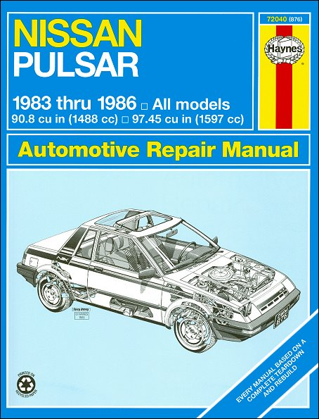 nissan pulsar shop repair manual 1983 1986 haynes 72040 rh themotorbookstore com Parts Manual Repair Manuals Yale Forklift