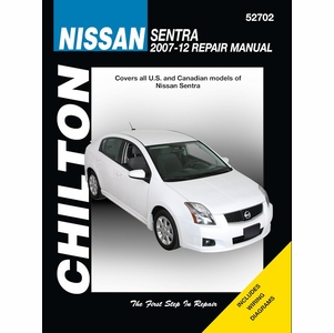 nissan sentra repair manual by chilton 2007 2012. Black Bedroom Furniture Sets. Home Design Ideas