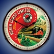 Northern Pacific Train Wall Clock, LED Lighted (North Coast Limited Streamlined)