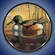 Northern Shovler Duck Wall Clock, LED Lighted
