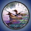 Northern Splendor Loons Wall Clock, LED Lighted