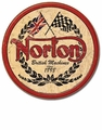 """Norton British Machines Since 1989\"" Tin Sign"
