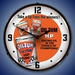 Oilzum HP Oil Wall Clock, LED Lighted