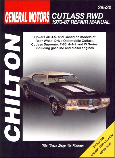 oldsmobile cutlass repair manual 1970 1987 rh themotorbookstore com