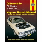 Olds Cutlass Repair Manual 1974-1988
