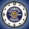 Oldsmobile Service Wall Clock, LED Lighted