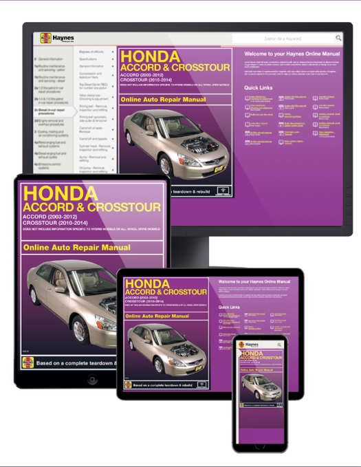 online service manual honda accord 2003 2012 crosstour 2010 2014 rh themotorbookstore com 2014 honda accord service manual pdf 2013 honda accord service manual download