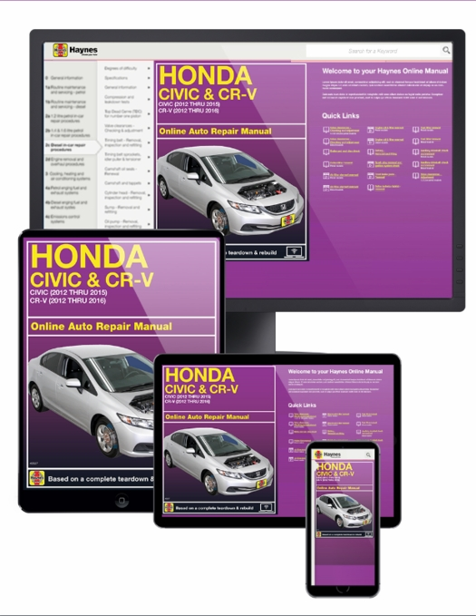 online service manual honda civic 2012 2015 cr v 2012 2016 rh themotorbookstore com honda civic 2012 service manual download honda civic 2012 service manual download