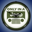 Only in a Jeep Wall Clock, LED Lighted