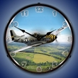 P-51 Mustang Wall Clock, Lighted: Airplane Theme