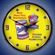 Pate Motor Oil Wall Clock, LED Lighted