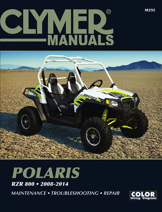 polaris rzr 800 repair manual 2008 2014 clymer m292 rh themotorbookstore com shop manual ez go gas golf cart shop manual tarter tiller