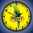 Polly Gas 2 Wall Clock, LED Lighted: Gas / Oil Theme