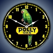 Polly Gas Wall Clock, LED Lighted: Gas / Oil Theme