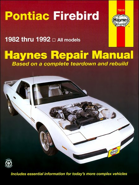 pontiac firebird trans am s e repair manual 1982 1992 rh themotorbookstore com pontiac firebird manual v6 pontiac firebird service manual