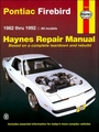 Pontiac Firebird, Trans Am, S/E Repair Manual 1982-1992