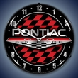 Pontiac GTO 6.5 Litre Logo LED Lighted Clock