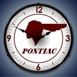 Pontiac Indian LED Lighted Clock