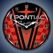 Pontiac Racing LED Lighted Clock