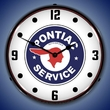 Pontiac Service Wall Clock, LED Lighted