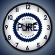 Pure Oil Wall Clock, LED Lighted: Gas / Oil Theme