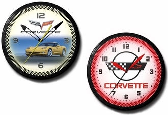 Quality Corvette Neon Clocks: C1, C2, C4, C5, C6, Stingray, Logo