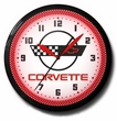 Red C6 Corvette Neon Clock, High Quality