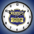 Richfield Gasoline Wall Clock, LED Lighted: Gas / Oil Theme