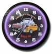 Route 66 Hot Rod Neon Clock, High Quality, 20 Inch