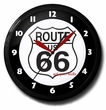 Route 66 Neon Clock: High Quality, Banded, 20 Inches