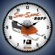 Rupp Snowmobile Wall Clock, LED Lighted