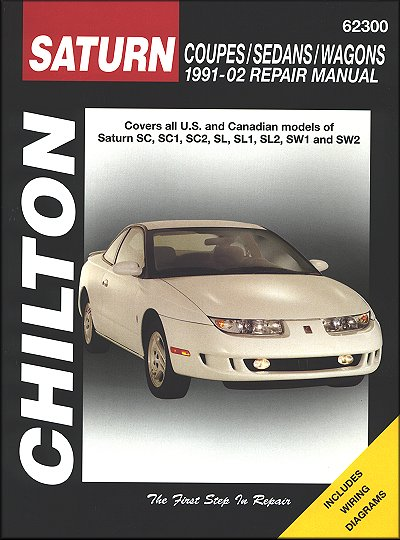 Saturn SC, SC1, SC2, SL, SL1, SL2, SW1, SW2 Repair Manual 1991-2002
