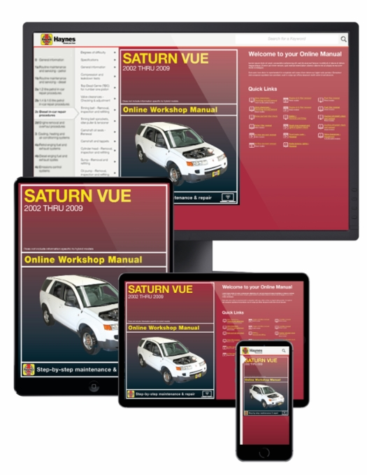 saturn vue online service manual 2002 2009 rh themotorbookstore com Professional Workshop Manuals Ford Workshop Manuals