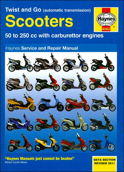 scooter repair manual by haynes 50 250cc twist and go rh themotorbookstore com Scooter Repair Manual Online Rascal Scooter Repair Manual