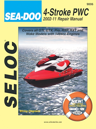 Sea-Doo 4-Stroke PWC Repair Manual 2002-2011