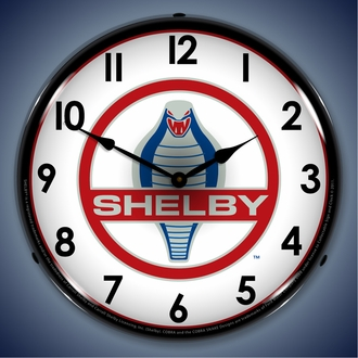Shelby LED Lighted Clocks: Cobra, GT500, Super Snake
