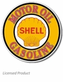 """Shell Motor Oil & Gasoline\"" Tin Sign"