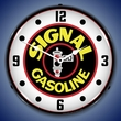 Signal Gas Wall Clock, LED Lighted: Gas / Oil Theme