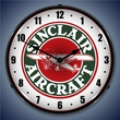 Sinclair Aircraft Wall Clock, LED Lighted: Airplane Theme